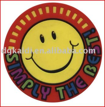 Hot sale Eco-friendly cheap Promotional gift plastic PVC Coasters