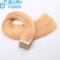 100% Remy Hair Tape Hair Extensions Blond Color Easy Use and Remove