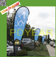 Outdoor large cheerful banner flags