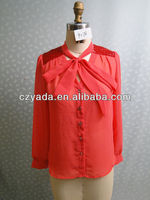Women chiffon different design of blouses