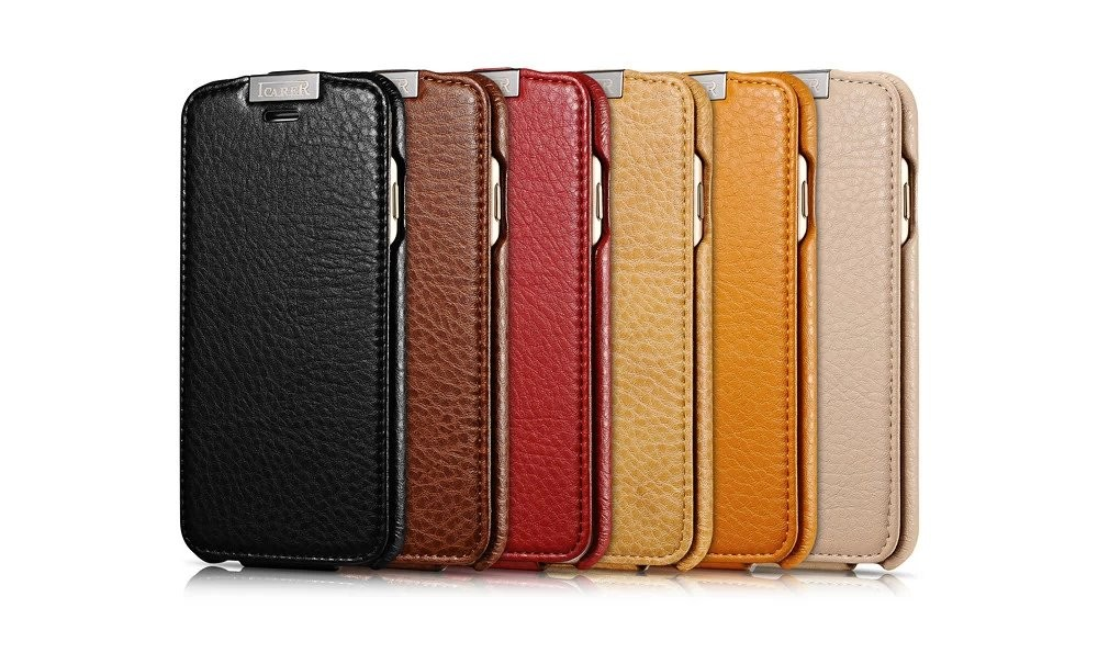 Luxury Microfiber Genuine Leather Vertical Magnetic Flip Case Accessories