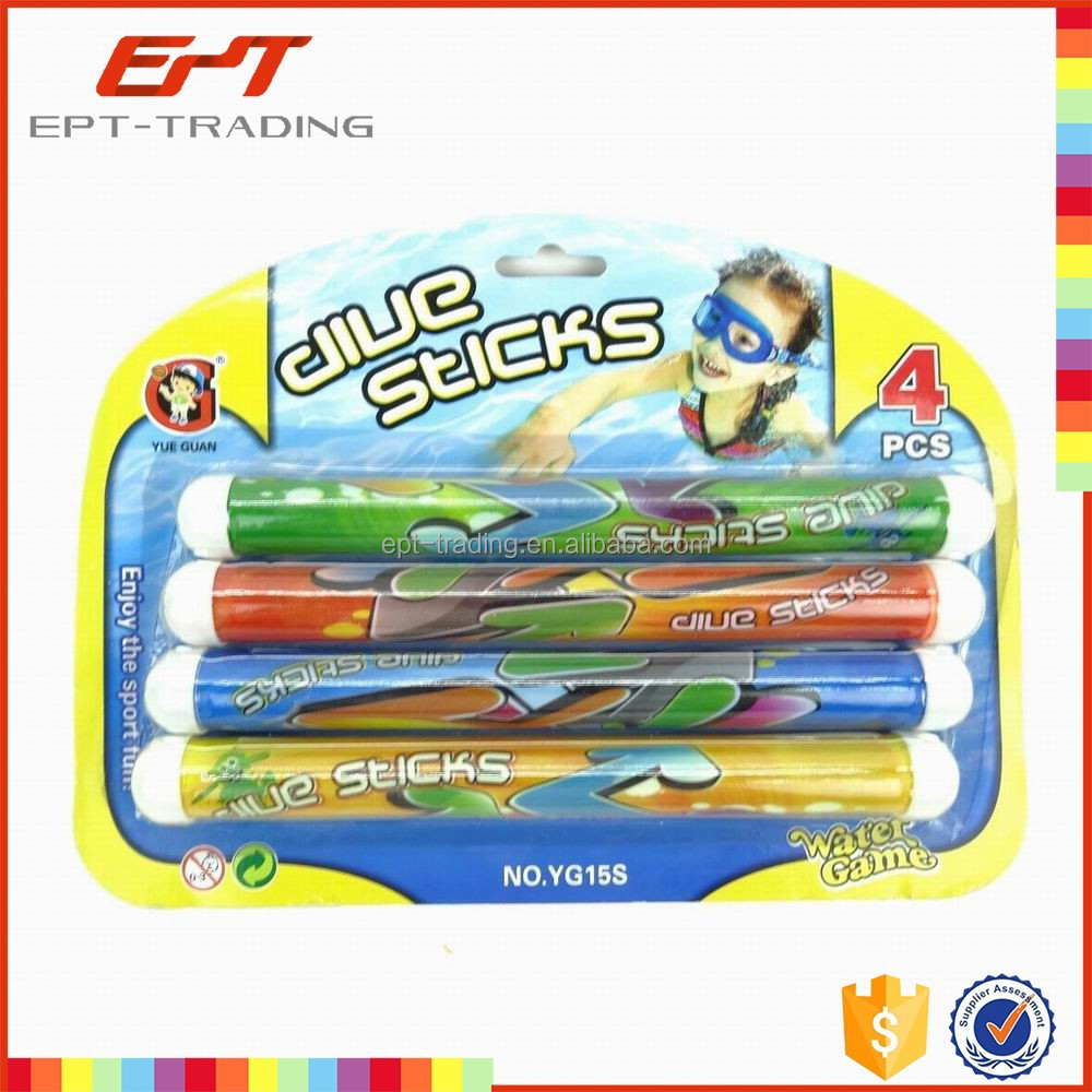 Swimming pool play toys 4pcs diving stick for sale