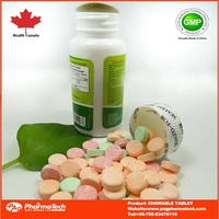 Private label OEM Vitamin C 500mg chewable tablets