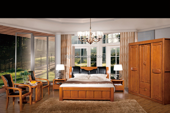 Hot sale modern solid wood home bedroom furniture set design 8102