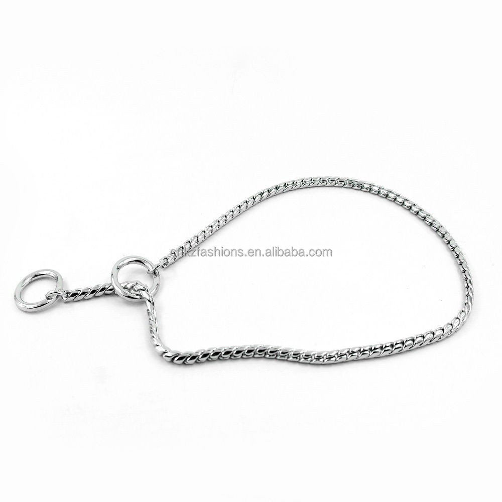 New Solid Snake P Chock Chain Traning Dog Pet Collars Leash For S/M/L Size Dog(kzm00008)
