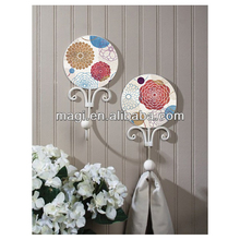 Mdf Wall Plaque Clothes Bird Metal Decorative Flower Hooks