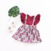 Latest design baby dress kids fairy with collar