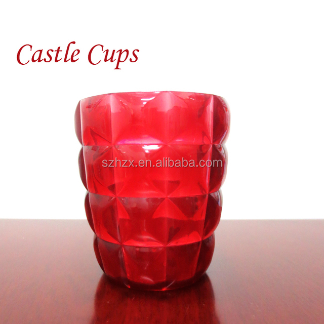 Crystal shape Cups&Saucers Drinkware Type plastic cups