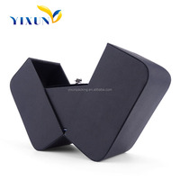 Lovely black custom paper ring box for jewelry wholesales