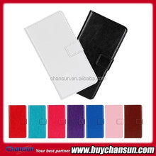 Crazy Horse lines leather case with credit card slots for Huawei Y300