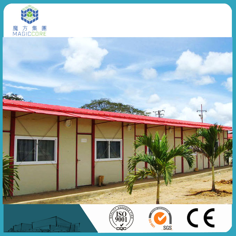 Q235 steel export prefab camp house eps sandwich panel prefab house in puerto rico