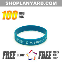 Free design golf silicone rubber wrist band