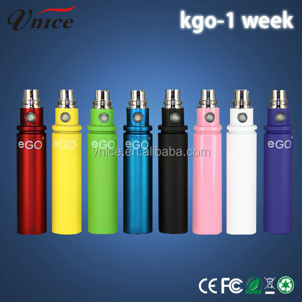 2014 China wholesale Supplier Most Popular E Cig 2200mah High Quality Kgo 1 Week 2200mah Battery Ego Battery