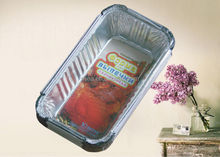 Stackable disposable aluminum foil food tray