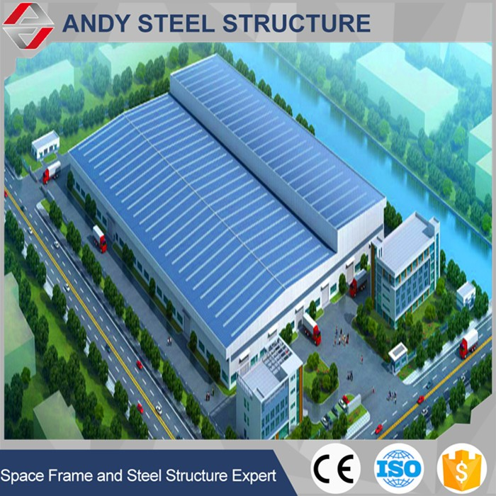 Large Span Two Story Steel Structure Warehouse / Workshop / Hangar Buildings with CE