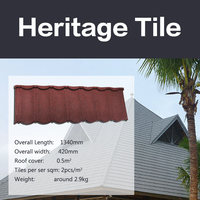 Africa Hot sale mixed color stone coated metal roofing tiles for villa modern house design