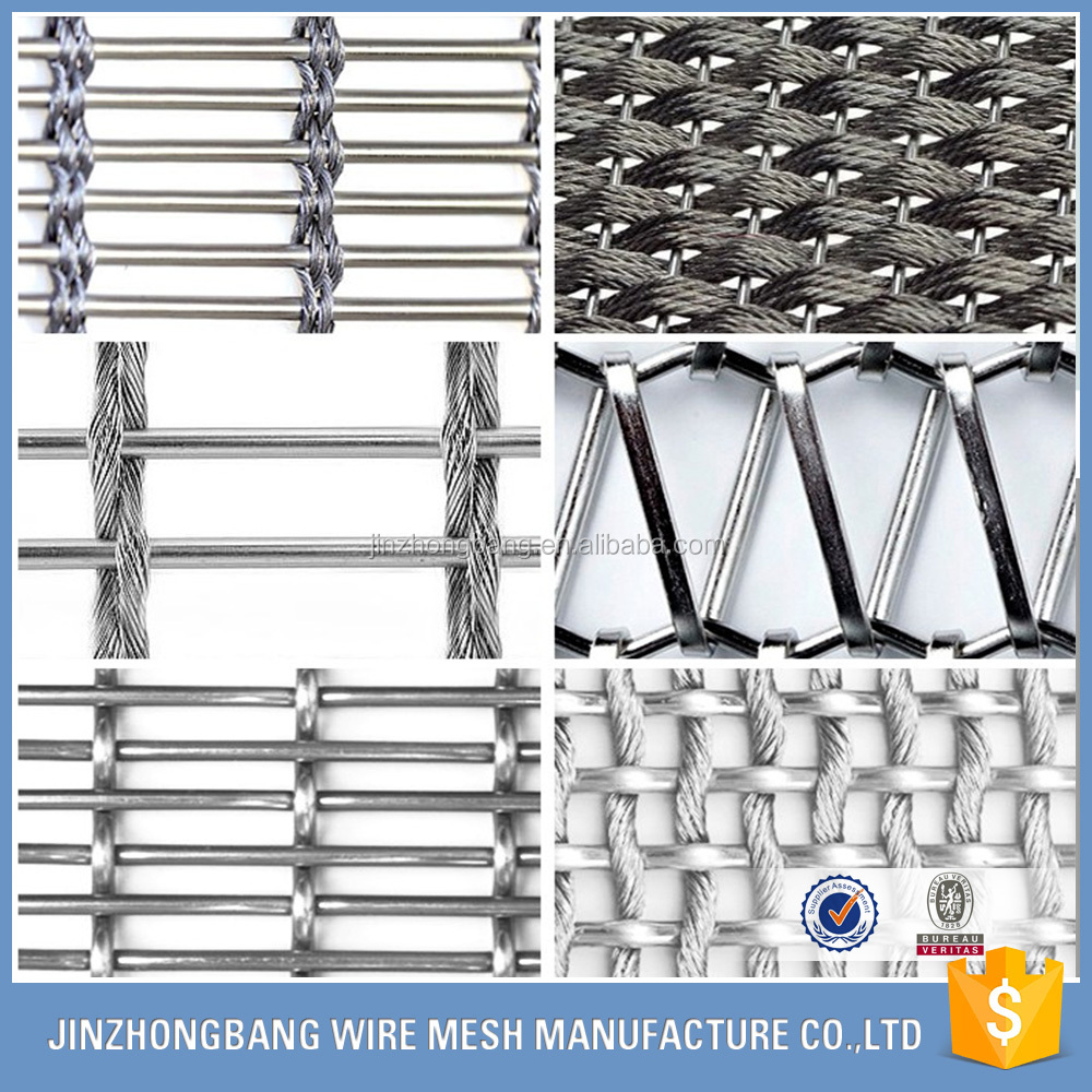 Manufactory stainless steel architectural woven wire drapery/stainless steel woven mesh