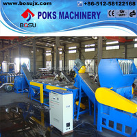 pe pp waste film recycling line