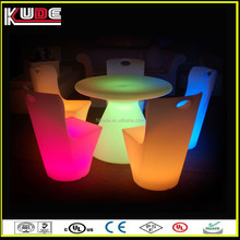 Restaurant Used Furniture Lighting Up Party LED Table and Chairs for Dining