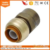 Linbo-LBAStraight Copper Push Fit Fitting 15mm x 1/2 in G Female