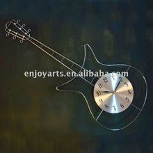 Guitar shape wall-mounted iron clock 2G11219