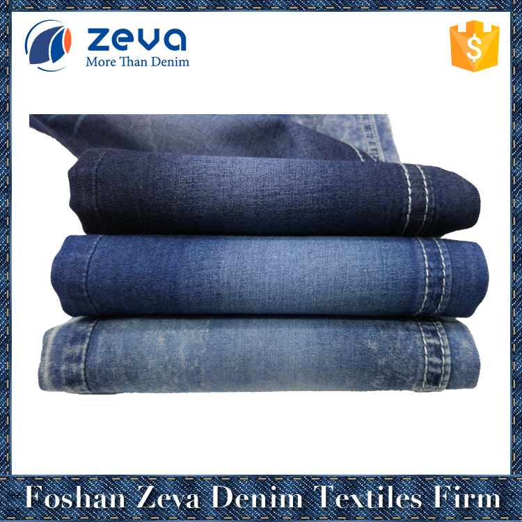 2017 fashion style high quality factory stock 100% cotton textile denim fabric