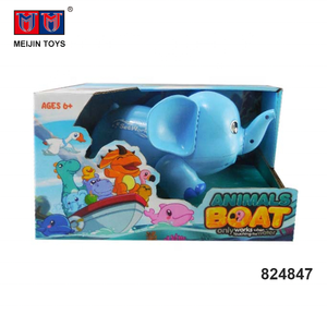 2.4G 4 channel elephant remote control animal toys rc boat kits for selling