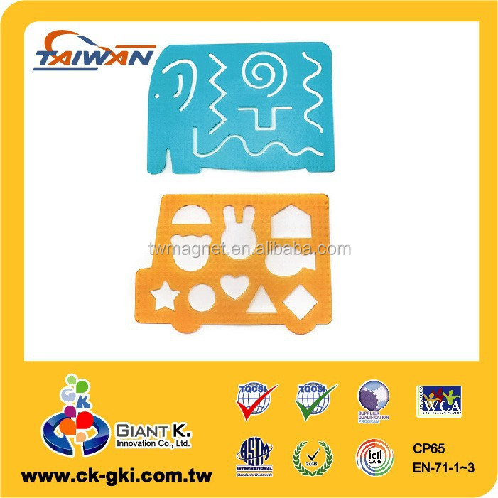 Customized cute Colored Plastic geometry template alphabet stencil ruler