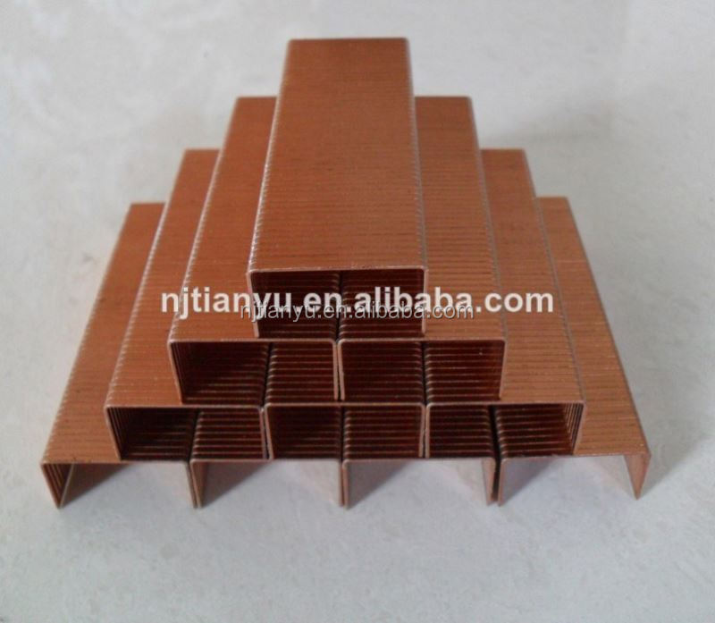 Manufacturing! Pneumatic staples of all sizes Carton fastening nails silver color sofas