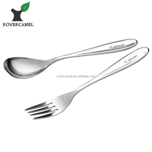 Titanium Spoon and Fork Ultralight Eco-friendly Pure Titanium Cutlery Flatware