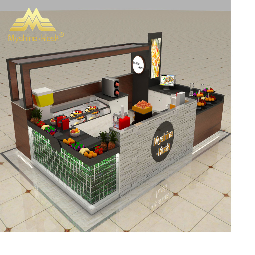 Custom Modern Shopping Mall Retail Food Kiosk Manufacturer