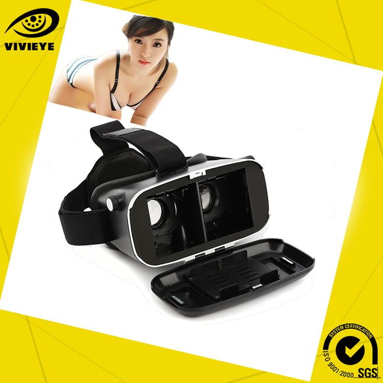 2016 New Wholesale Hot Selling Open Sex Film 3D Vr Shinecon glass Magic box With Remote Control