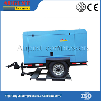 Hot Selling 2015 lubricated portable screw air compressor for industrial