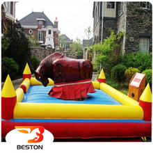 Kids and adult electric inflatable rodeo bull riding machine for sale
