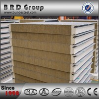 low cost new innovative sound deadening rock wool sandwich wall panel