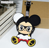 Eco-friendly 2D Cute Mickey soft PVC bag tag rubber luggage tag for promotional gifts