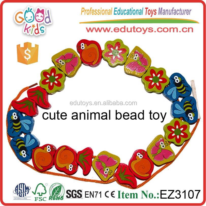 Kids Game Animal Educational Bead Toy Intelligent Children Wooden Promotional Novelty Toy