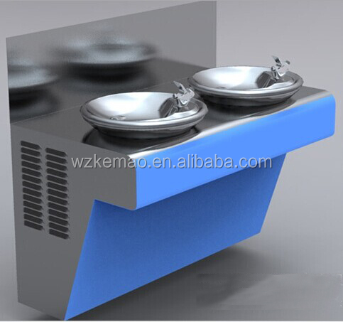 Double Basin drinking water fountain for park