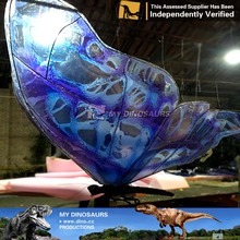 MY Dino-JL269 High Simulated Giant purple Insect with wings Statue