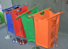 4 pcs foldable customized tote eco cooler shopper bags supermarket reusable trolley bags vegetable shopping 4 set cart bag