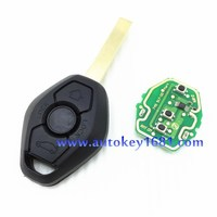 ca rkey blank for bmw ews system 3 button 315/433.92mhz adjust frequency with ID44(7935)chip hu92 blade
