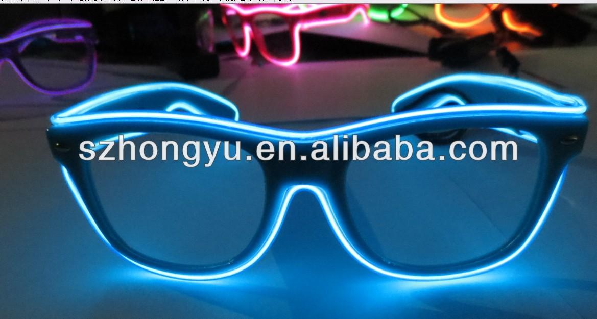 Crazy Funny Club Amazing Plastic EL Wire Flashing 3D luminous ...