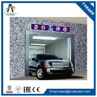 low ceiling mechanical luxurious panoramic glass car parking lift