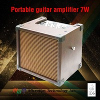 iOS App guitar amplifier with dual power supply and audio interface