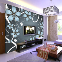 Design Personalized Flower Print wallpaper For Home Decorative