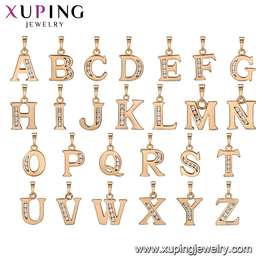 32399 xuping jewelry fashion letters pendant with 18K gold color