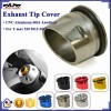 BJ-ETC-YA001 Titanium Chinese Motorcycle Parts CNC Aluminum Exhaust Tip Cover for YAMAHA TMAX530