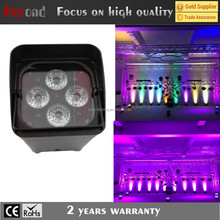 4x12w rgbawv 6-in-1 wholesale mini led lights battery powered led par