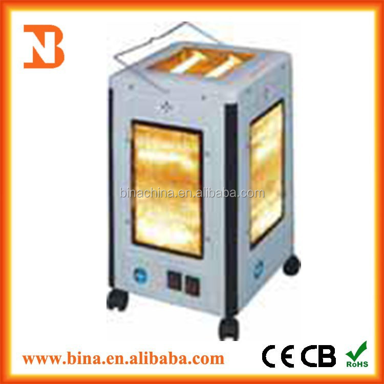 2015 freestanding portable electric quartz infrared tube heater