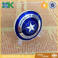 Cheap Folk Art Style blue lives matter America's shield enamel challenge coin
